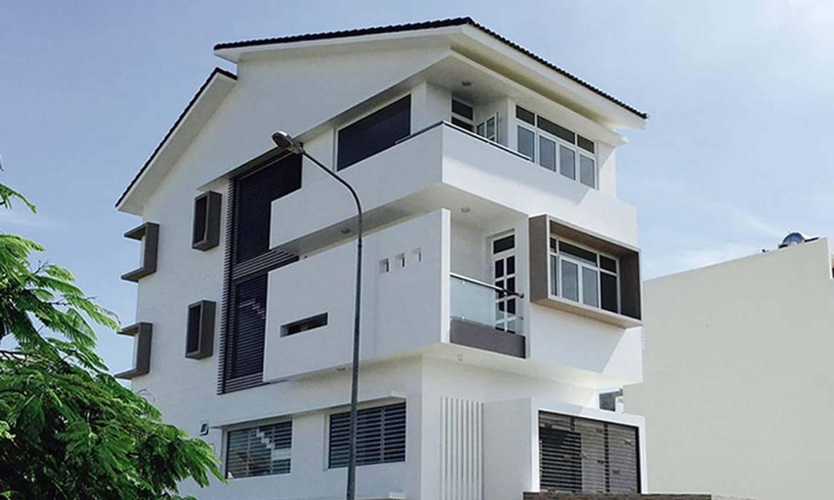 kiến trúc Biệt thự hiện đại đẹp bởi CÔNG TY THIẾT KẾ NHÀ ĐẸP SANG TRỌNG CEEB Hiện đại