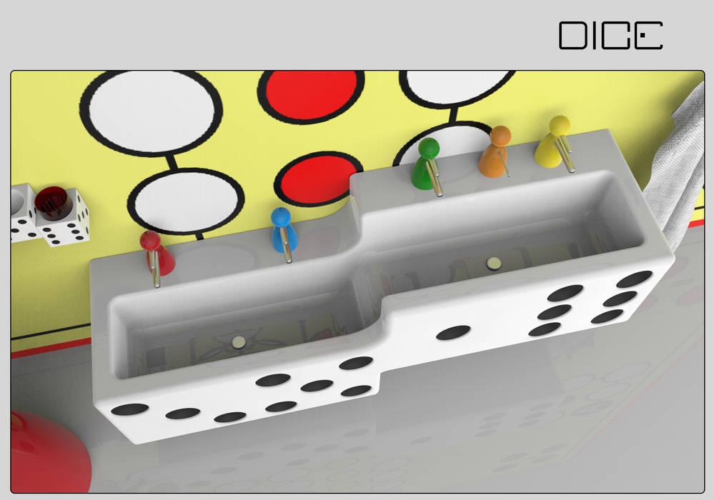 Dice - kinder-badezimmer im spiele-design: badezimmer von indezign ...