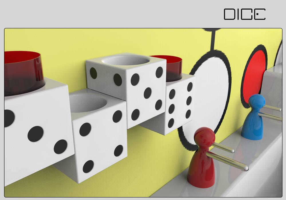 Dice - kinder-badezimmer im spiele-design: ausgefallene badezimmer ...