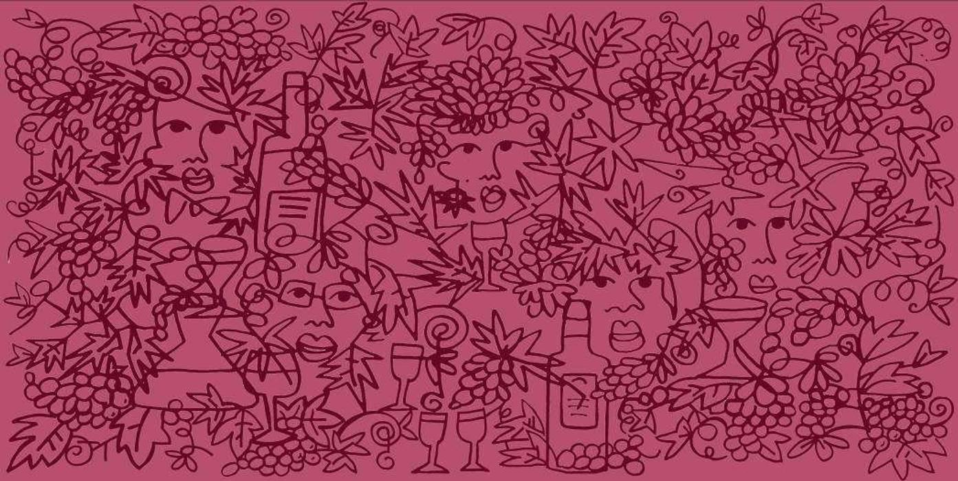 """Mural pintado a mano para restaurante """"Bacus"""" Gastronomía de estilo colonial de Artelux Colonial Azulejos"""
