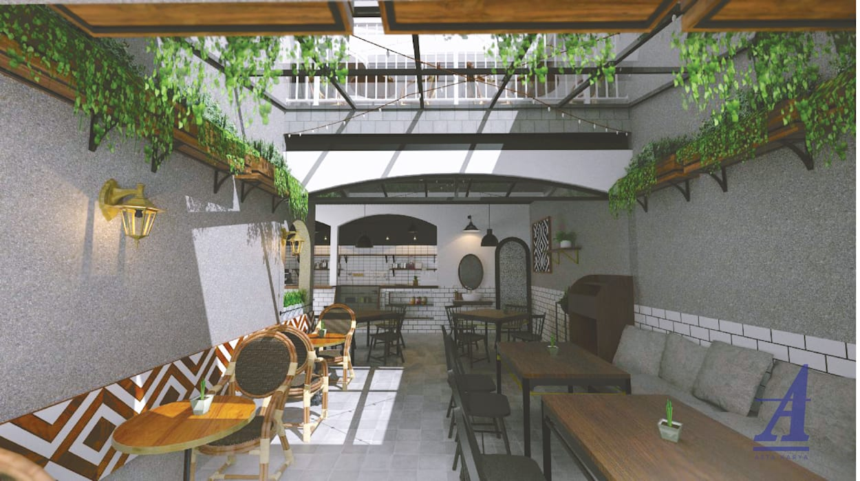 HASH HOUSE - YOGYAKARTA, INDONESIA: Restoran oleh Asta Karya Studio,