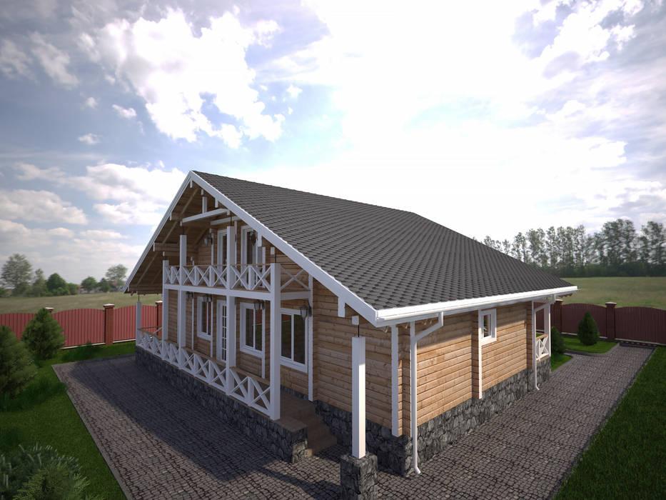 Rumah kayu oleh Style Home, Minimalis