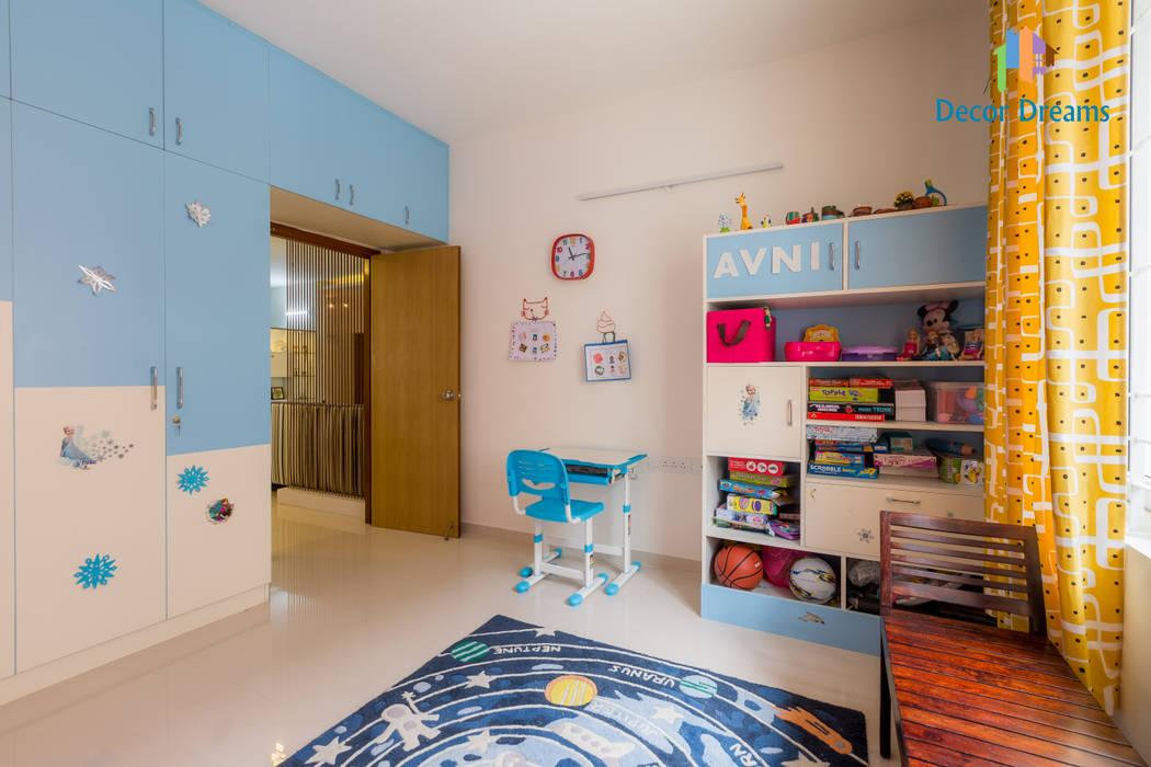 Axis Aspire 2.5 BHK - Mr. Ramprasad:  Nursery/kid's room by DECOR DREAMS