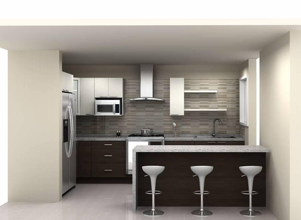 Cocinas residenciales economicas Nhà bếp phong cách hiện đại