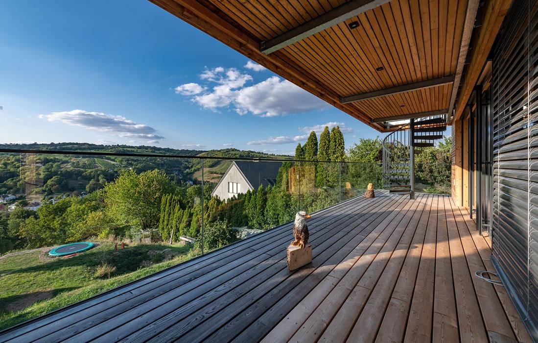 Modern Terrace by AL ARCHITEKT - in Wien Modern Wood Wood effect