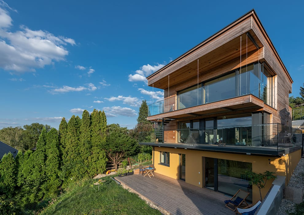 Modern Houses by AL ARCHITEKT - in Wien Modern Wood Wood effect