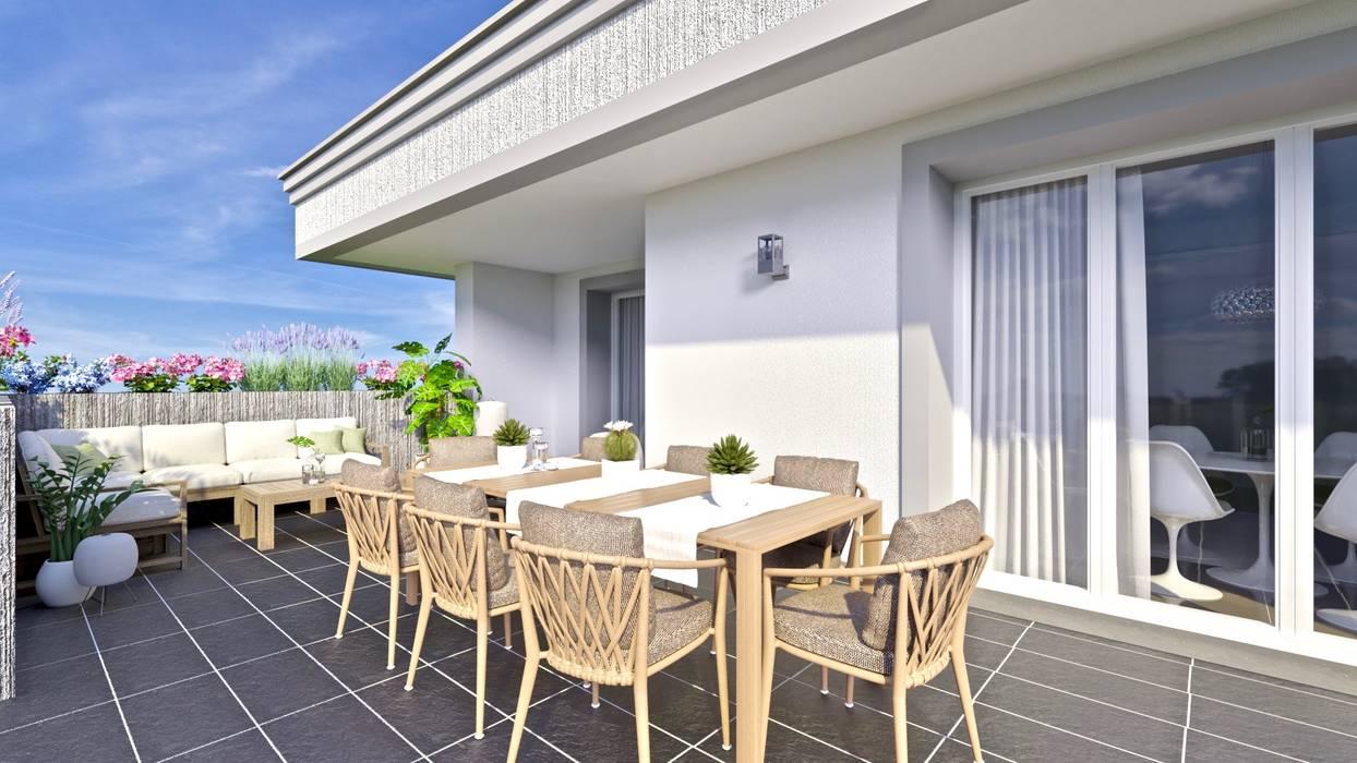 Terrazza piano attico: Terrazza in stile  di Gentile Architetto