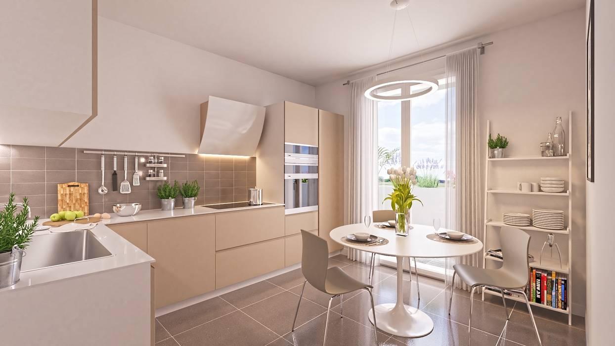 Cucina Abitabile: Cucina attrezzata in stile  di Gentile Architetto