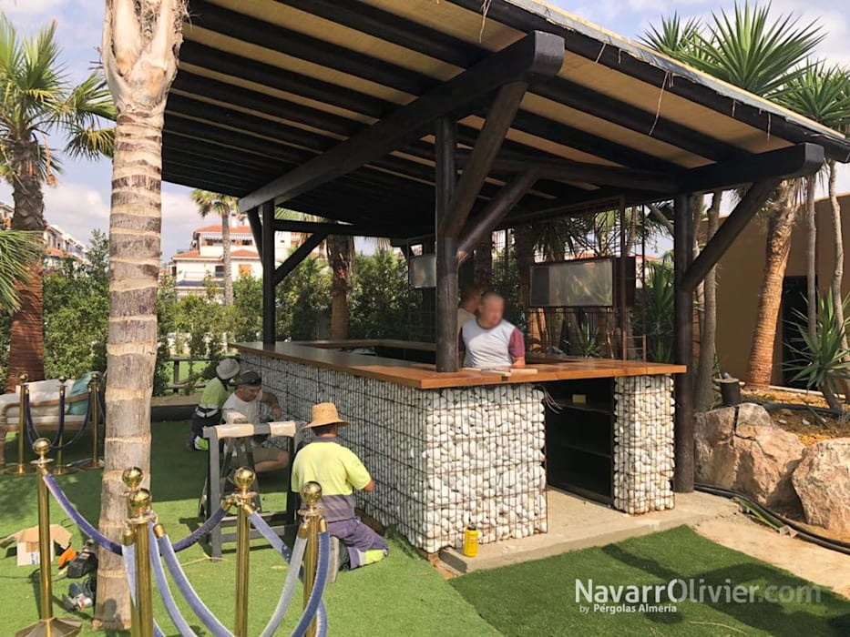 Tropical Style Bars Clubs By Navarrolivier Tropical Wood