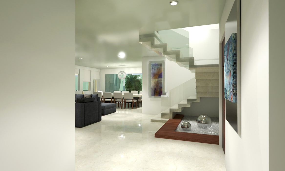 Minimalist corridor, hallway & stairs by CouturierStudio Minimalist