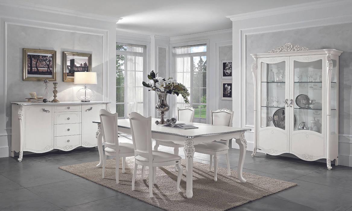 """Wohnzimmer set """"viola bianca"""" in weiß-silber klassische italienische ..."""