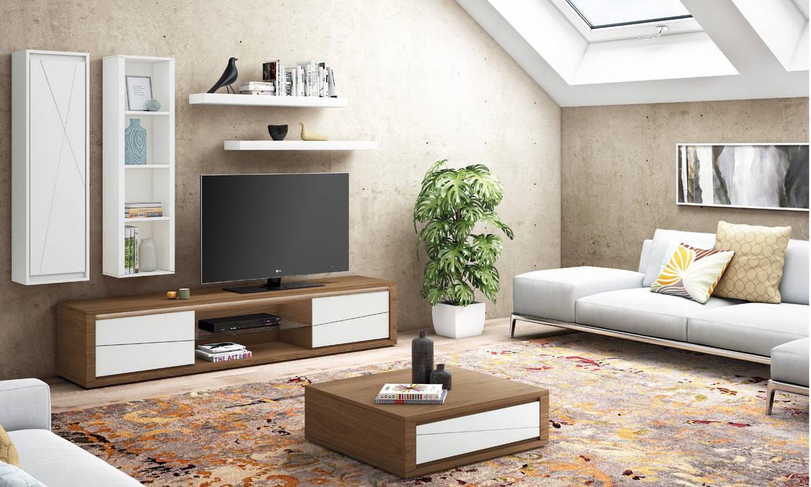 Sala de estar Cosmo: Sala de estar  por Maria José Faria Interiores Ldª