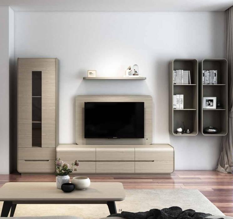 Estante Senses: Sala de estar  por Maria José Faria Interiores Ldª