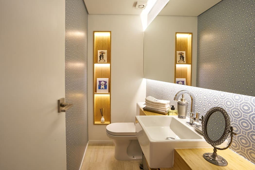 ห้องน้ำ โดย Concept Engenharia + Design, โมเดิร์น เซรามิค