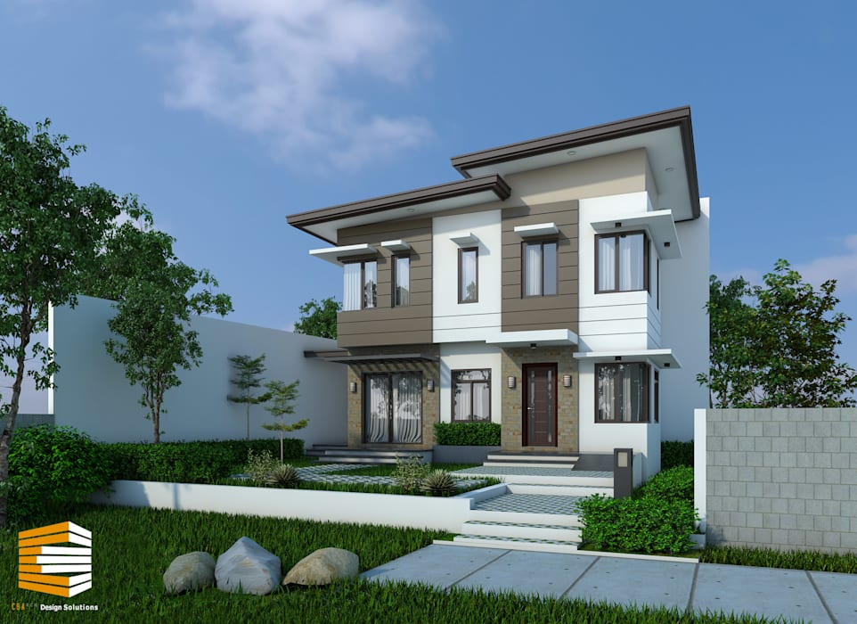 Proposed exterior of the house: modern  by CB.Arch Design Solutions, Modern