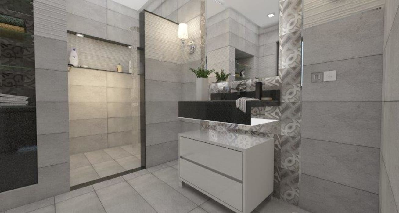 CASAS DE BANHO: Casa de banho  por Maria José Faria Interiores Ldª