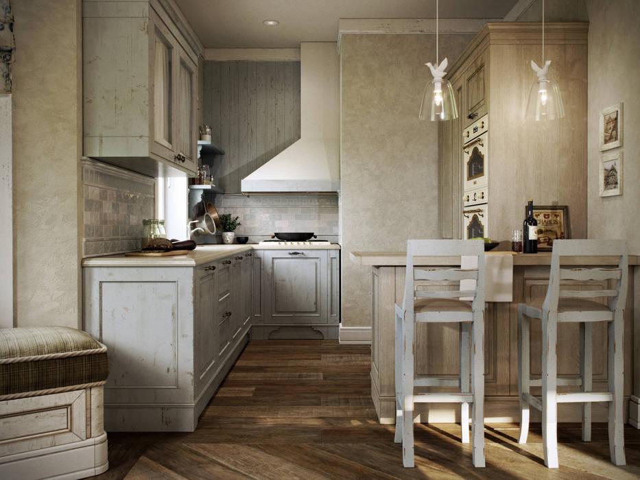 Дом в поселке Вартемяги Кухня в стиле кантри от EJ Studio Кантри