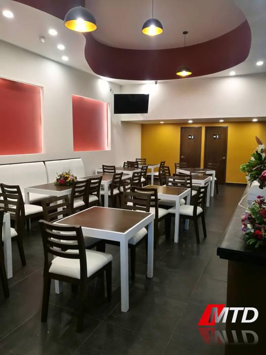 Acabados en paredes: comedor de estilo por mtd mexico | homify