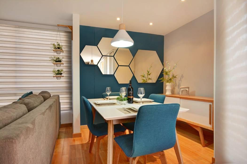 Gauss, disfruta cada espacio: Comedores de estilo  por Natalia Mesa design studio