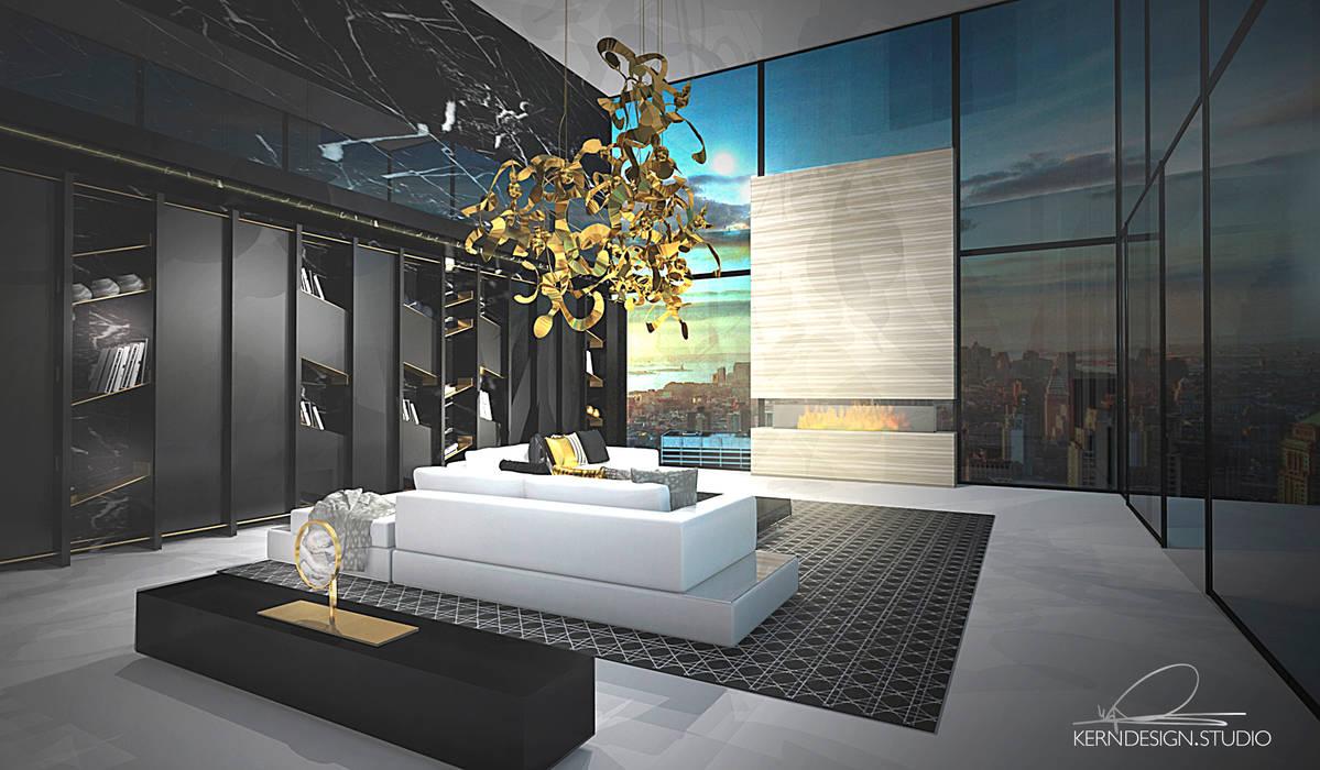 Wohnzimmer mit galerie moderne wohnzimmer von kern-design ...