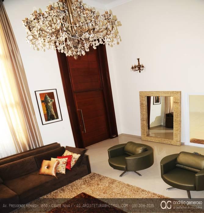 Sala de estar: Salas de estar  por Andréa Generoso - Arquitetura e Construção
