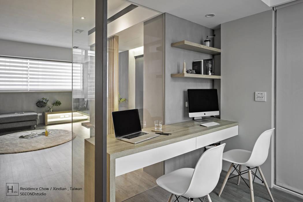書  房 / Study room:  書房/辦公室 by SECONDstudio