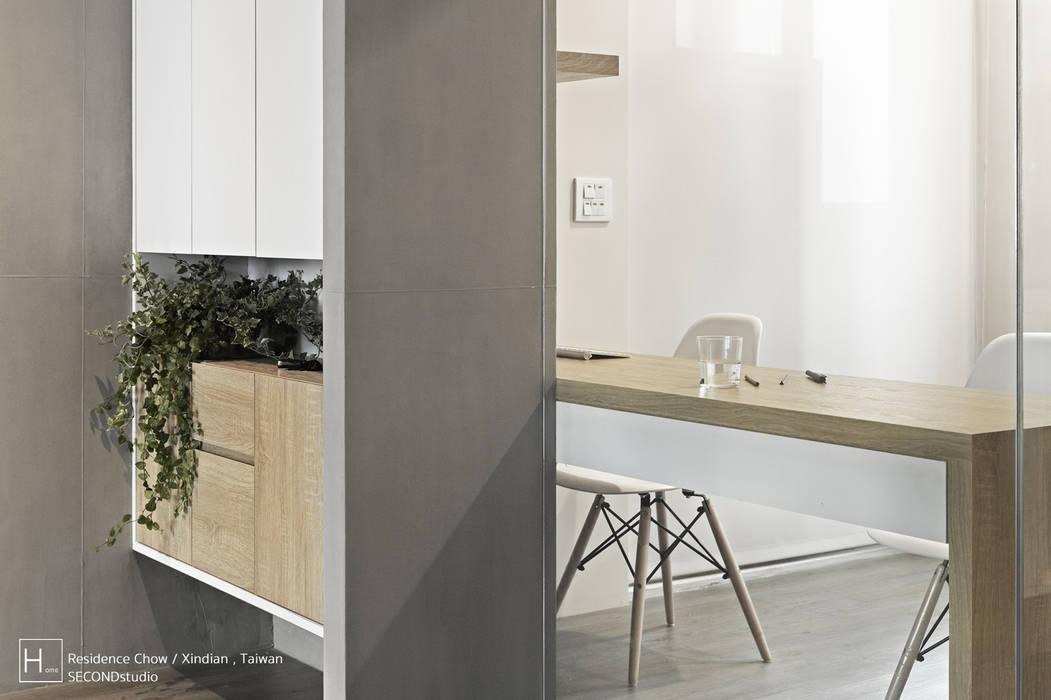 書 房 / Study room SECONDstudio 書房/辦公室 水泥 Grey