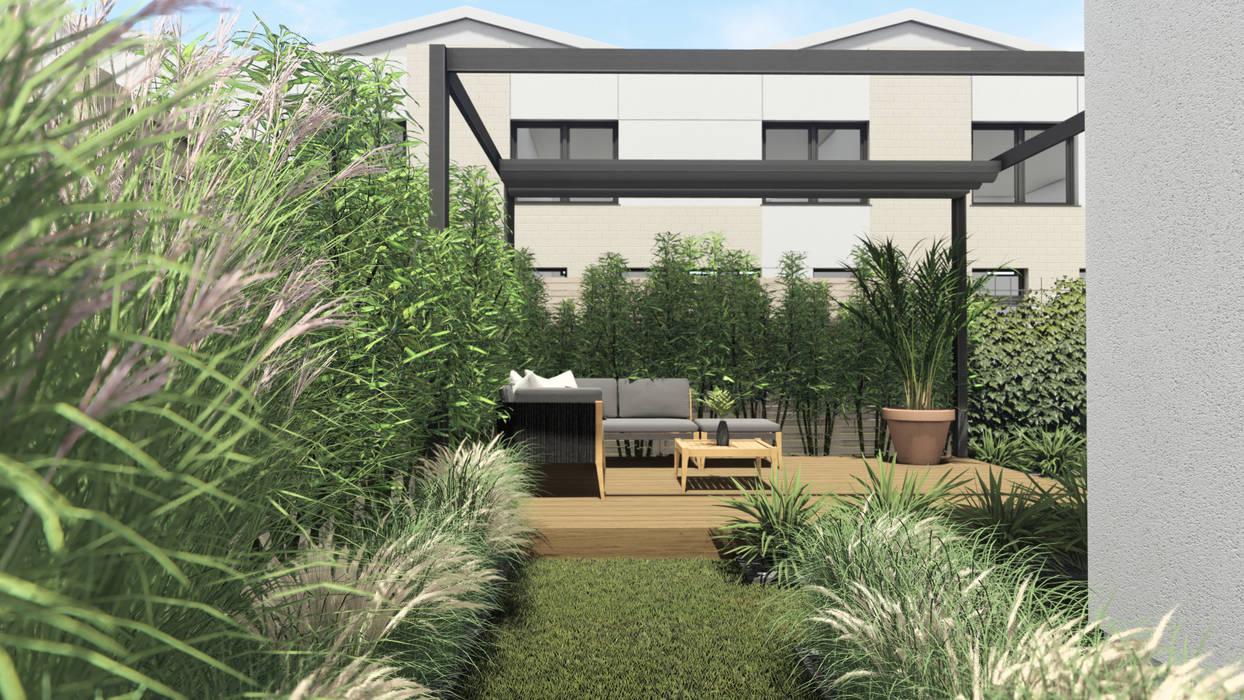PROJEKT MAŁEGO OGRODU MIEJSKIEGO W GDYNI - Główna strefa wypoczynkowa: styl , w kategorii Ogród zaprojektowany przez STTYK - Pracownia Architektury Wnętrz i Krajobrazu,