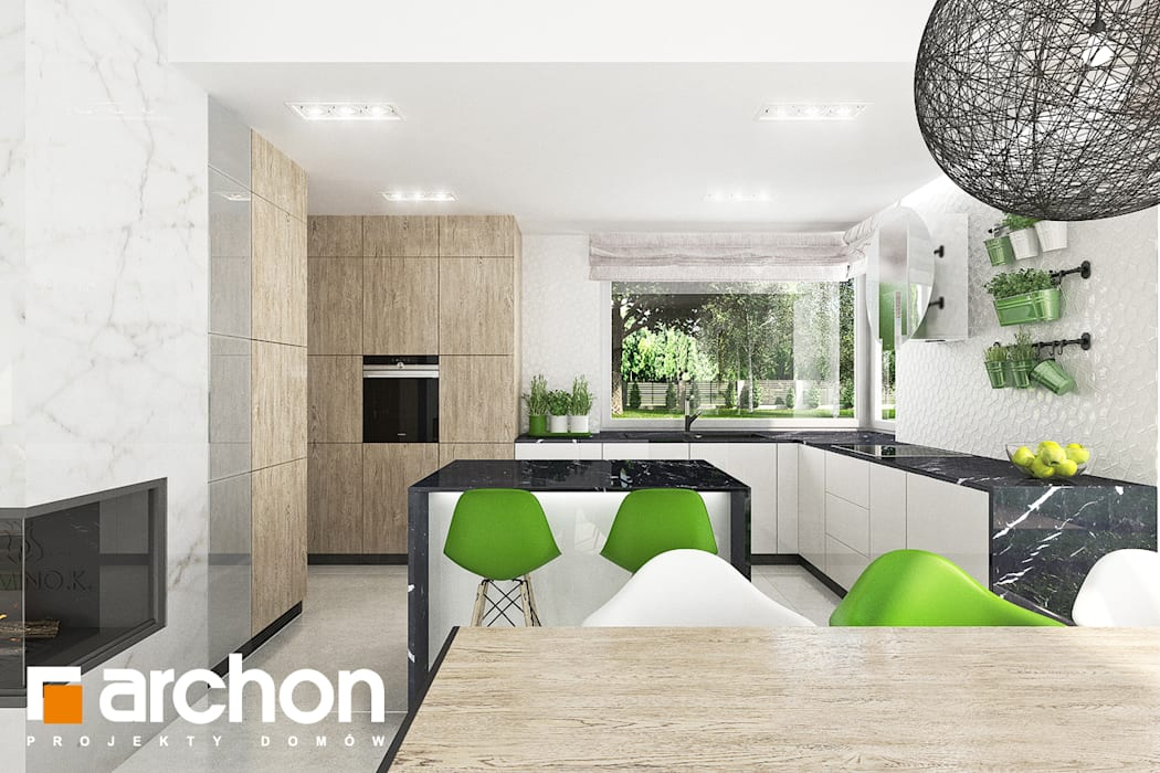 Кухня в стиле модерн от ARCHON+ PROJEKTY DOMÓW Модерн