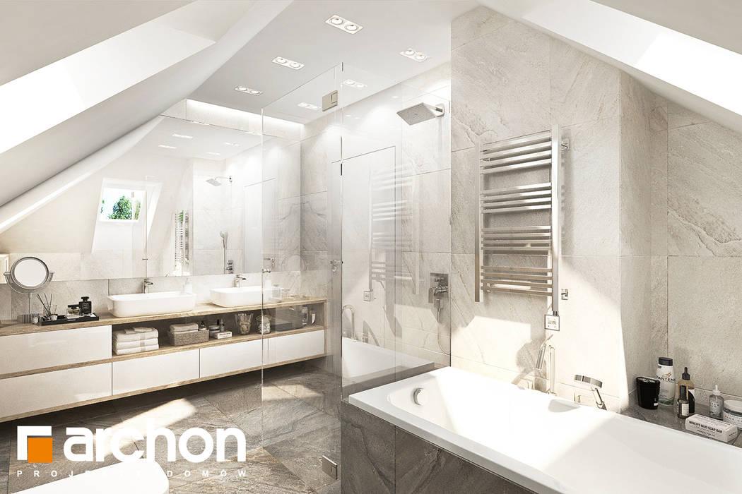 Ванные комнаты в . Автор – ARCHON+ PROJEKTY DOMÓW,