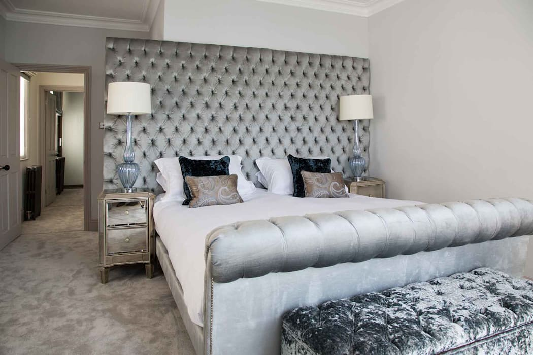 Town House Brighton Pfeiffer Design Ltd Classic style bedroom