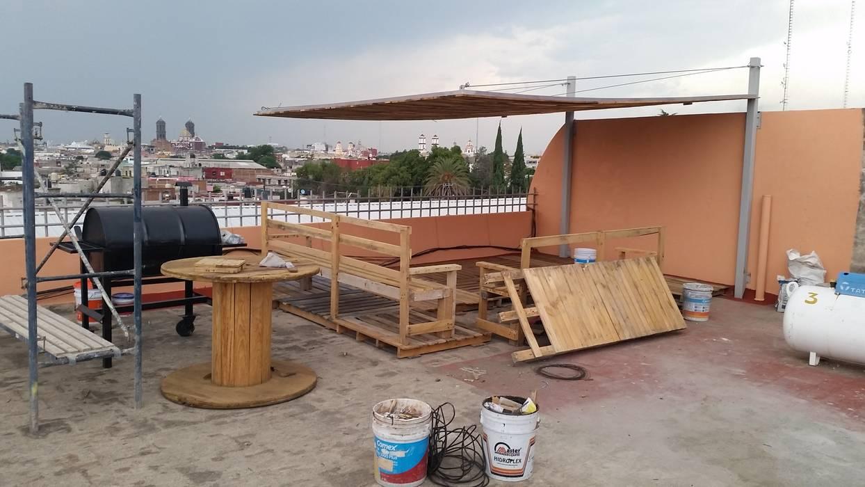Realizacion De Banca Y Muebles De Madera Reciclada Balcones