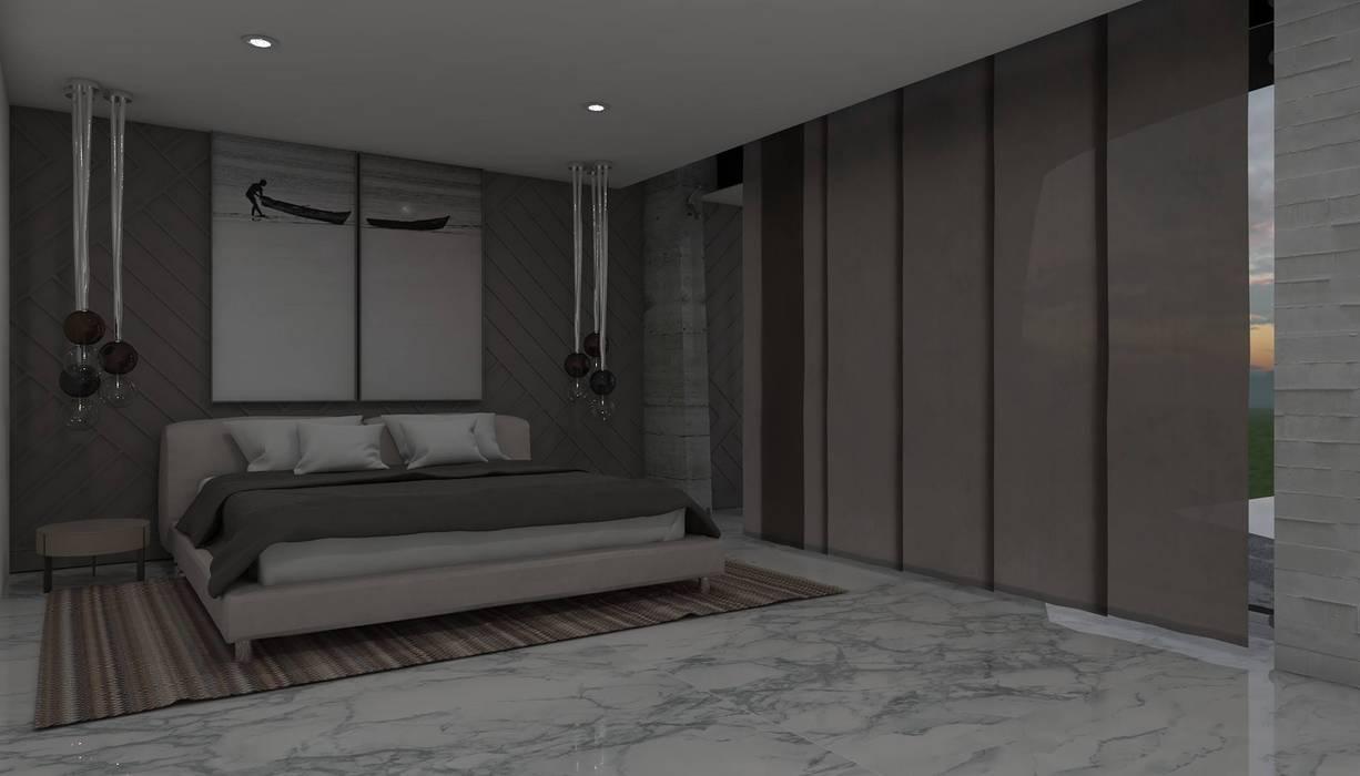 Casa GC 1920: Recámaras de estilo  por HC Arquitecto