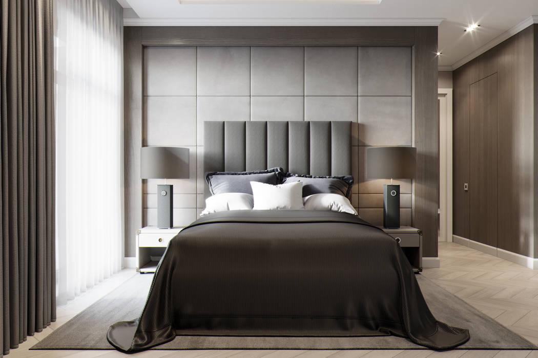 Квартира в ЖК Привилегия: Спальни в . Автор – EJ Studio, Модерн