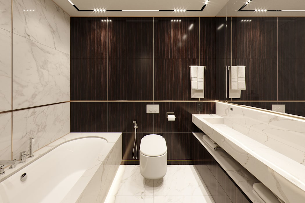 Квартира в ЖК Николаевский ансамбль: Ванные комнаты в . Автор – EJ Studio