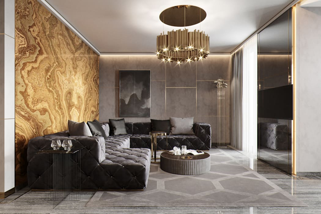 Eclectic style living room by EJ Studio Eclectic