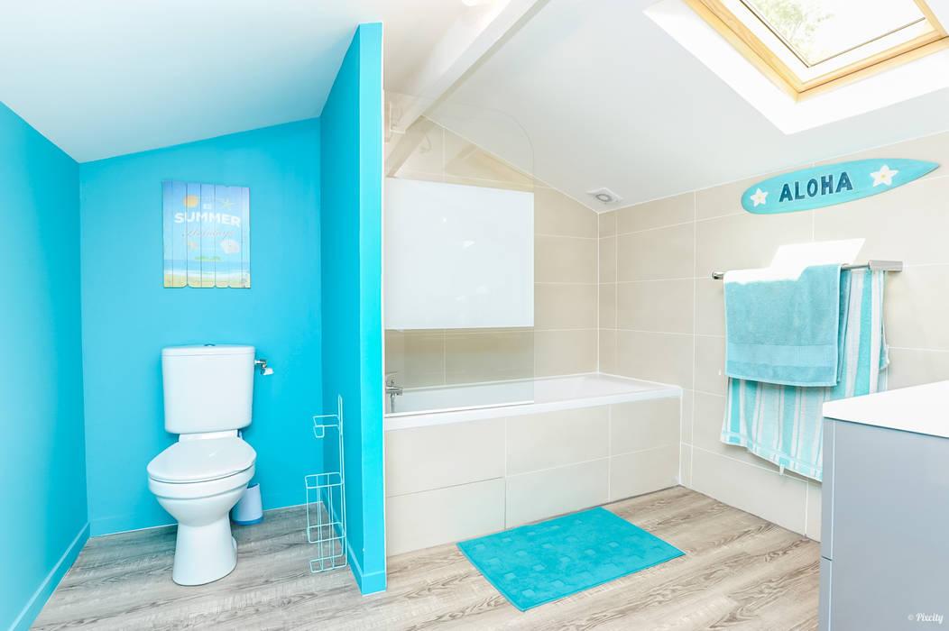 Aménagement des combles en salle de bain pour enfants: salle de ...