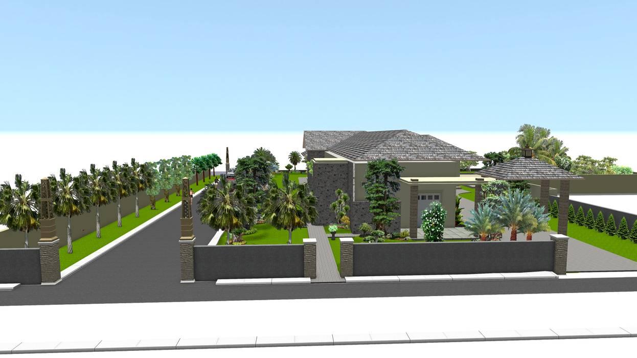 Taman rumah tinggal 5 surabaya:  Garden  by TUKANG TAMAN SURABAYA - jasataman.co.id