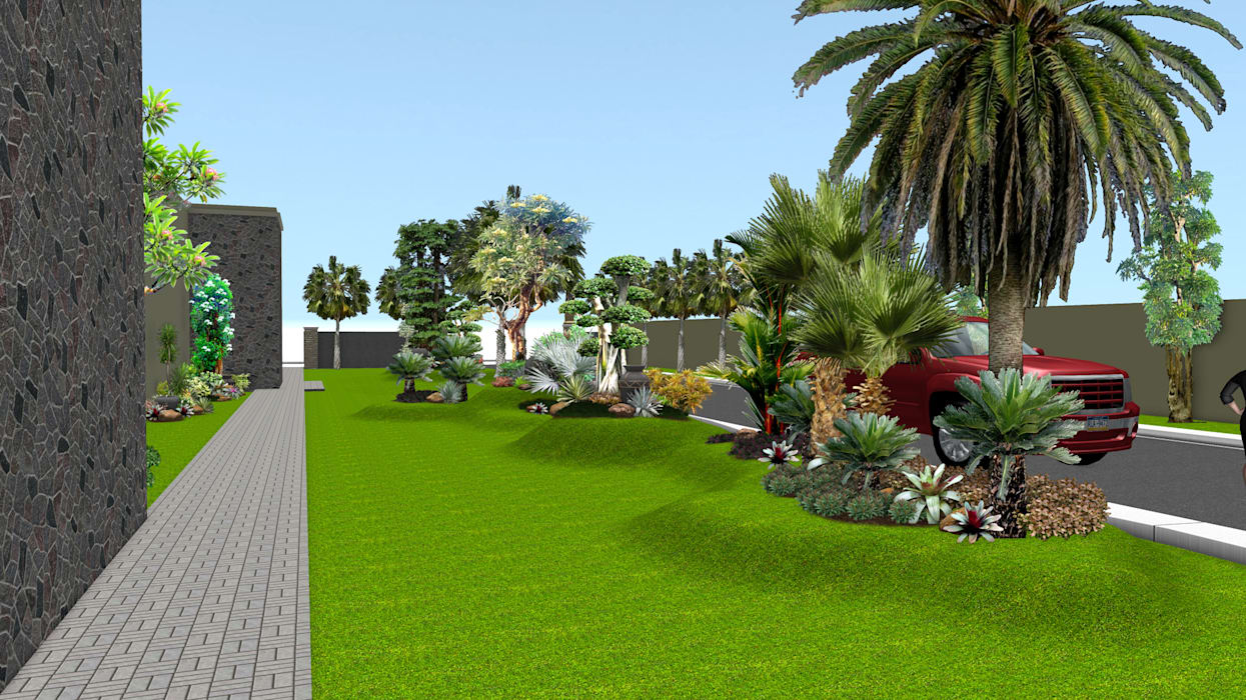 Taman rumah tinggal 7:  Garden  by TUKANG TAMAN SURABAYA - jasataman.co.id