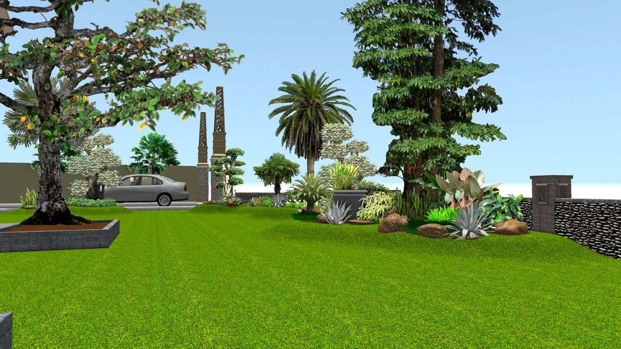 Taman rumah 10 surabaya:  Garden  by TUKANG TAMAN SURABAYA - jasataman.co.id