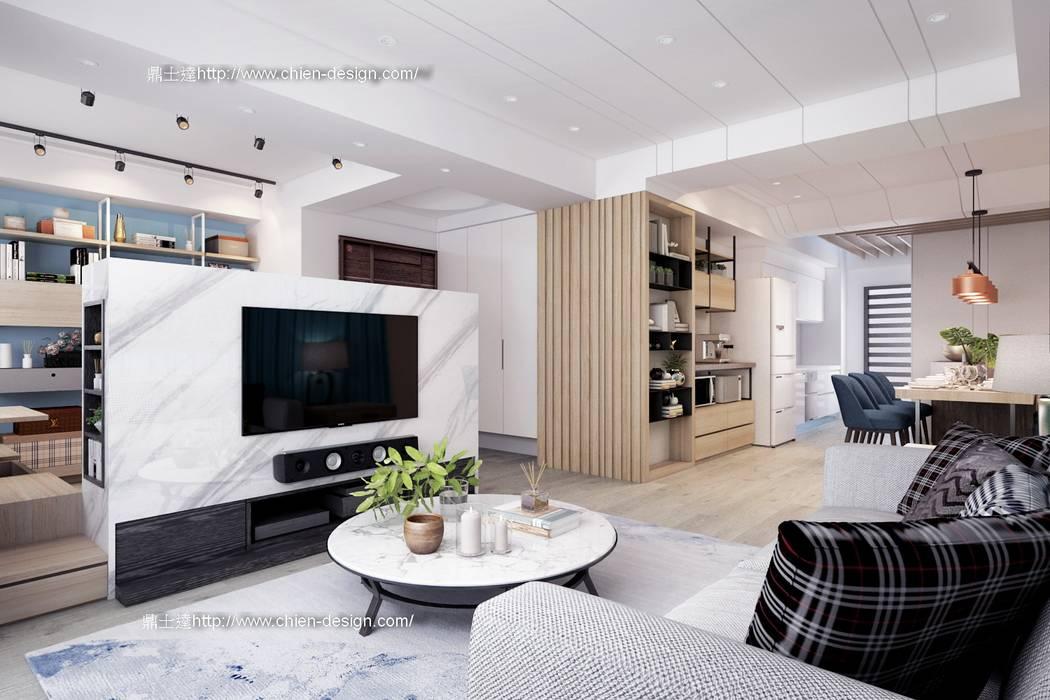 桃園黃宅 Modern living room by 鼎士達室內裝修企劃 Modern