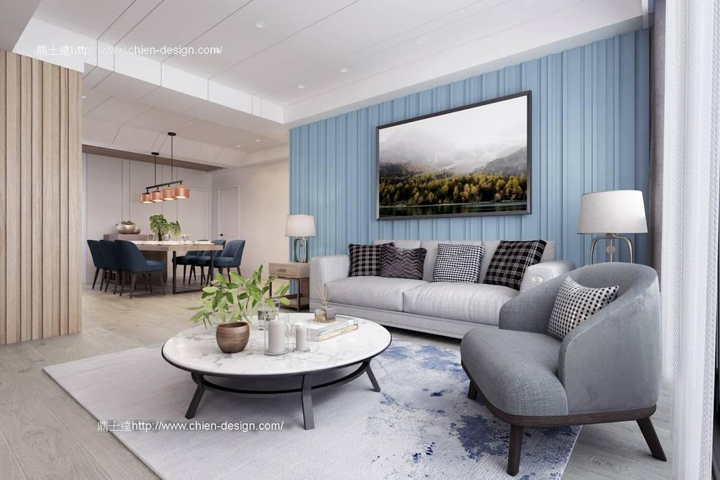 桃園黃宅 Modern living room by 鼎士達室內裝修企劃 Modern Wood Wood effect