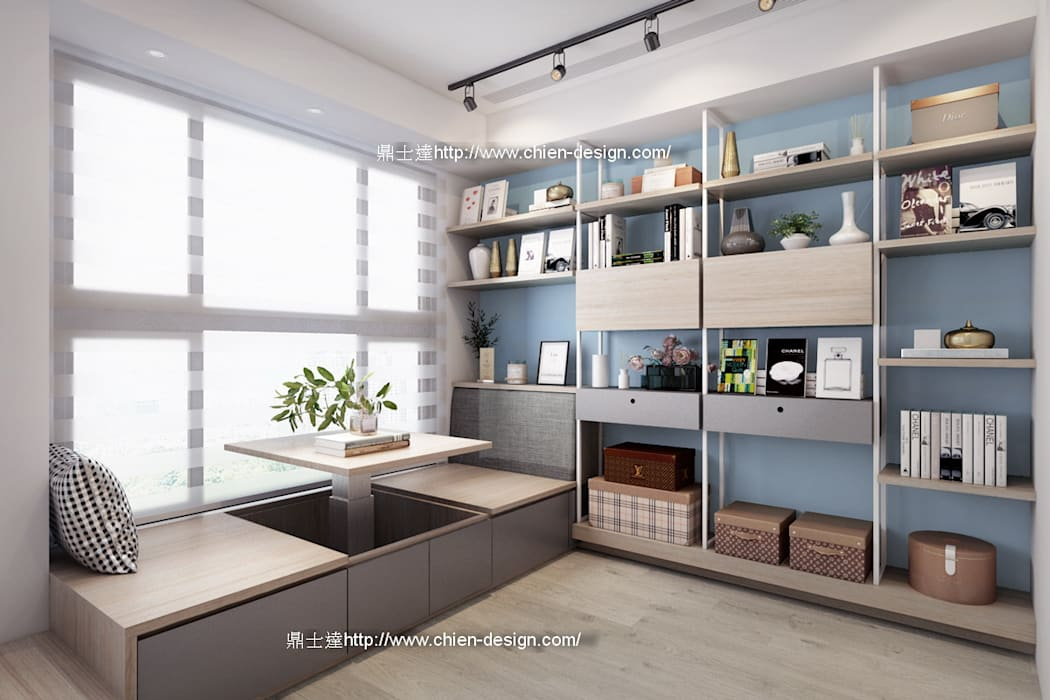 桃園黃宅 Modern Study Room and Home Office by 鼎士達室內裝修企劃 Modern Metal
