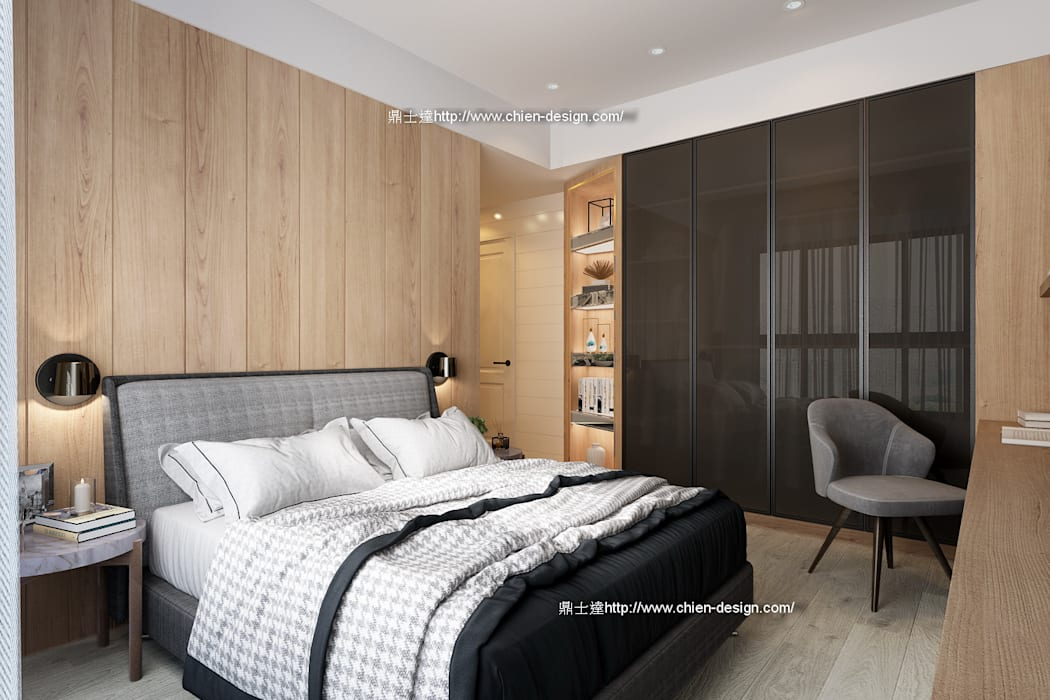 臥室設計 Modern style bedroom by 鼎士達室內裝修企劃 Modern Solid Wood Multicolored