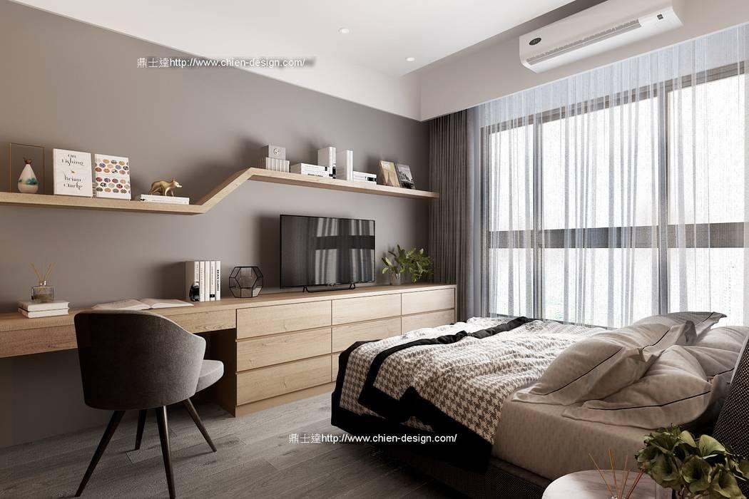 桃園黃宅 Modern style bedroom by 鼎士達室內裝修企劃 Modern Solid Wood Multicolored