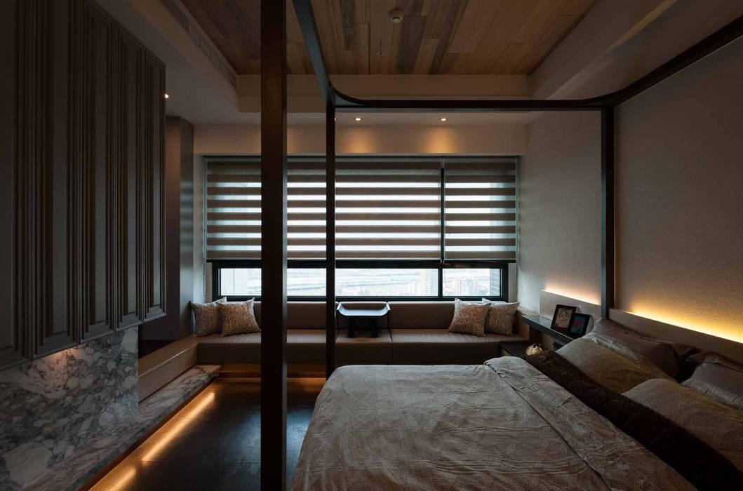 Dormitorios de estilo  de 敘述室內裝修設計有限公司,