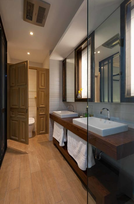 主臥衞浴空間 敘述室內裝修設計有限公司 Modern bathroom