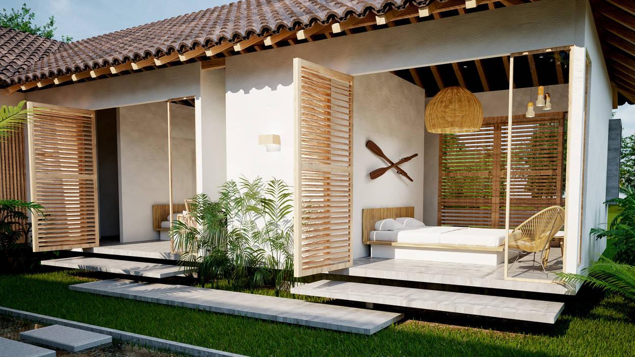 cuartos casa principal hotel miraflores de Adrede Diseño Tropical