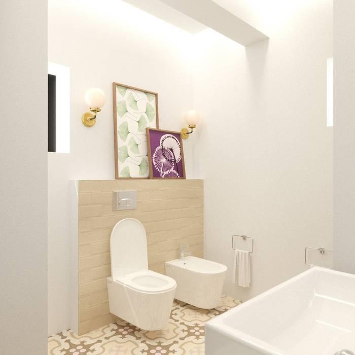 Яркая вилла на о. Кипр Bright villa on Cyprus Parlaklı villa Kıbrıs'ta Eli's Home Ванная в средиземноморском стиле