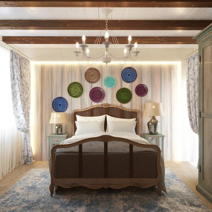 Яркая вилла на о. Кипр|Bright villa on Cyprus|Parlaklı villa Kıbrıs'ta Спальня в средиземноморском стиле от Eli's Home Средиземноморский